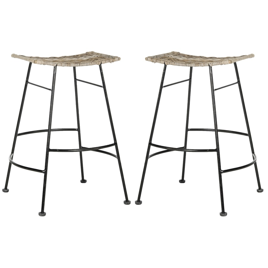 Kitchen Stools Malta: Safavieh Atara Counter Stools Set Of 2 Gray Counter Stools
