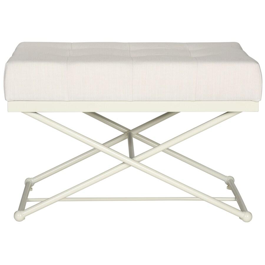 Safavieh Cara Contemporary Light Beige/Cream Accent Bench