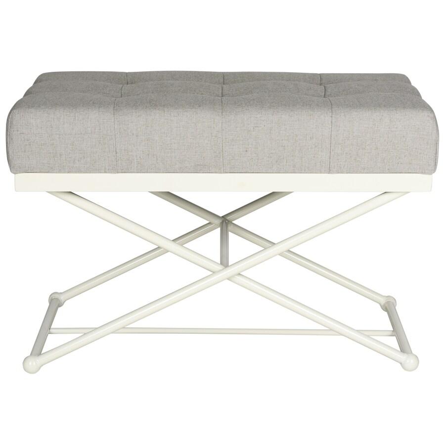 Safavieh Cara Contemporary Gray/Cream Accent Bench