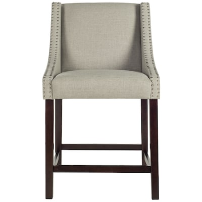 Safavieh Dylan Light Gray Counter Stool At Lowes
