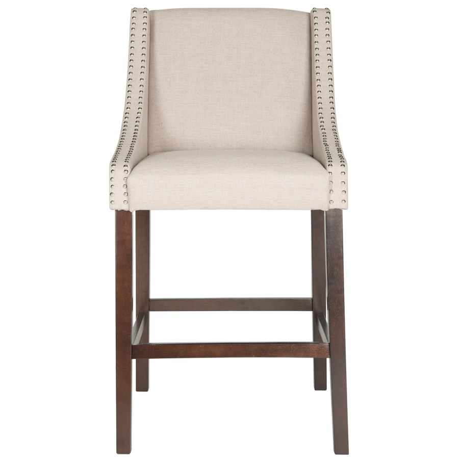 Safavieh Fox Taupe 29.5-in Bar Stool (27-in to 35-in)