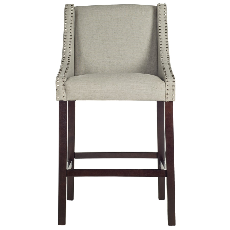 Safavieh Fox Light Grey 29.5-in Bar Stool (27-in to 35-in)