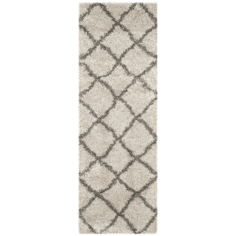Safavieh Belize Shag Taupe/Grey Rectangular Indoor Machine-Made Runner (Common: 2 x 7; Actual: W x L x 0-ft Dia)