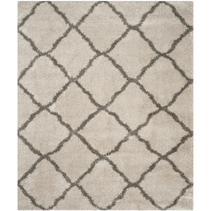 Safavieh Belize Denby Shag Taupe/Gray Indoor Moroccan Area Rug (Common: 9 x 12; Actual: 8.5-ft W x 12-ft L)