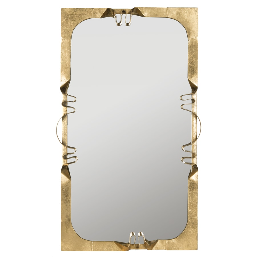 Safavieh Golden Ribbon Antique Gold Polished Wall Mirror