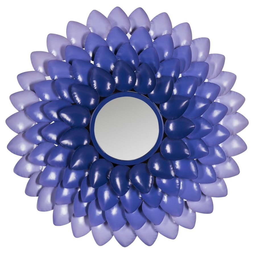 Safavieh Chrissy Purple Polished Round Wall Mirror