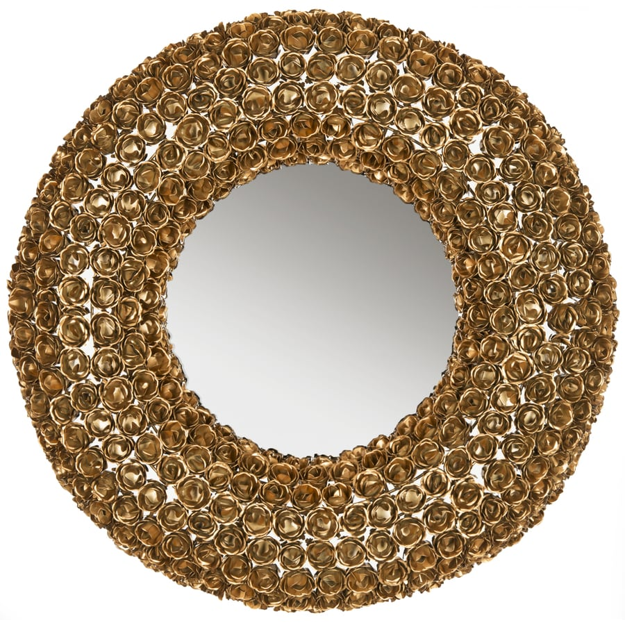 Safavieh Celtic Chain Antique Gold Polished Round Wall Mirror