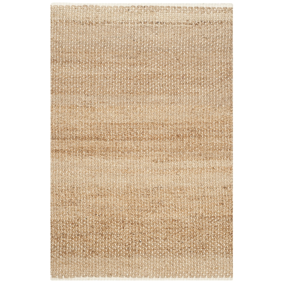 Safavieh Natural Fiber Antiqua Ivory/Natural Indoor Handcrafted Coastal Area Rug (Common: 6 x 9; Actual: 6-ft W x 9-ft L)