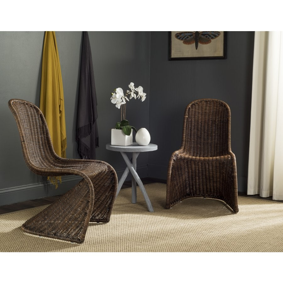 Safavieh Set of 2 Tana Coastal Brown/Multi Accent Chairs