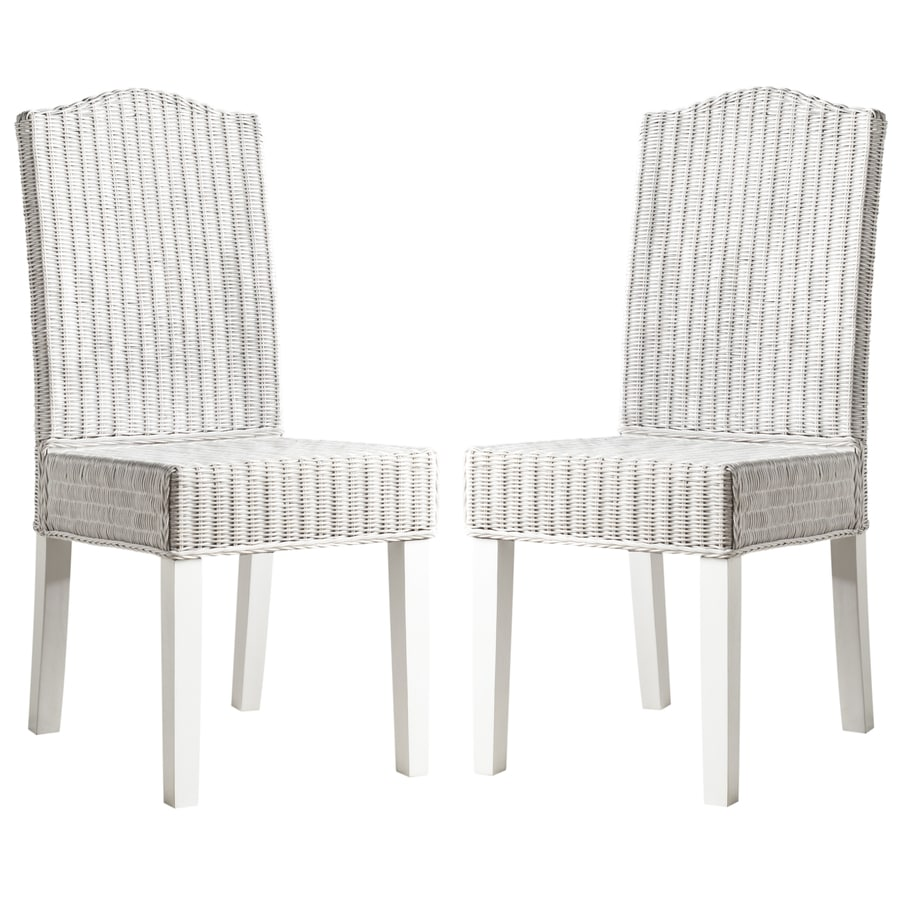 Safavieh Set of 2 Southeast Asia White Side Chairs