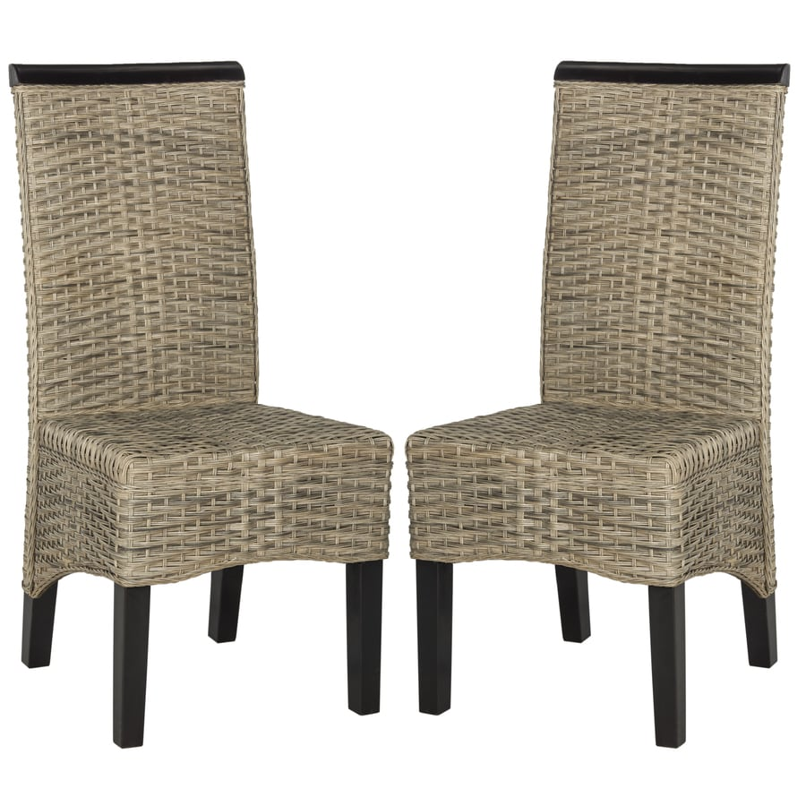 Shop Safavieh Set Of 2 Ilya Contemporary Gray Side Chairs At