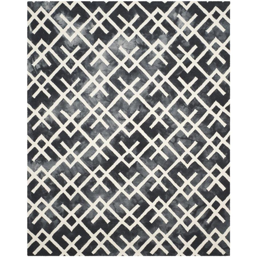 Safavieh Dip Dye Graphite/Ivory Rectangular Indoor Handcrafted Distressed Area Rug (Common: 8 x 10; Actual: 8-ft W x 10-ft L)