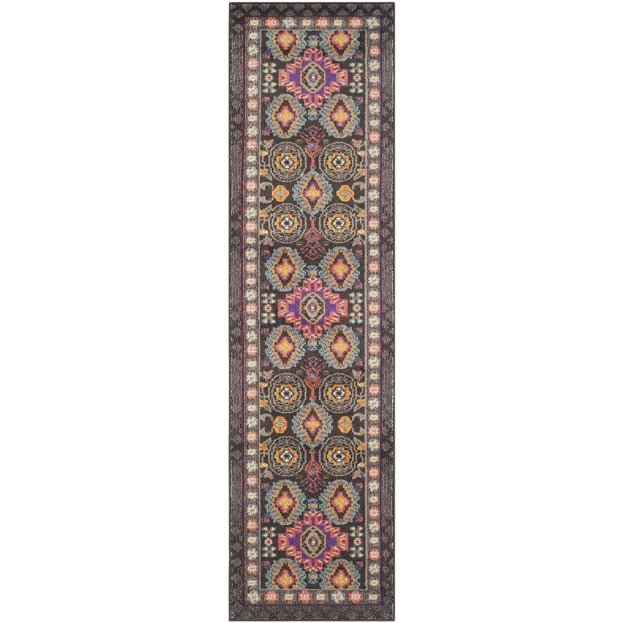 Safavieh Monaco Brown/Multi Rectangular Indoor Machine-Made Nature Runner (Common: 2.3 x 14; Actual: 2.167-ft W x 14-ft L x 0-ft Dia)
