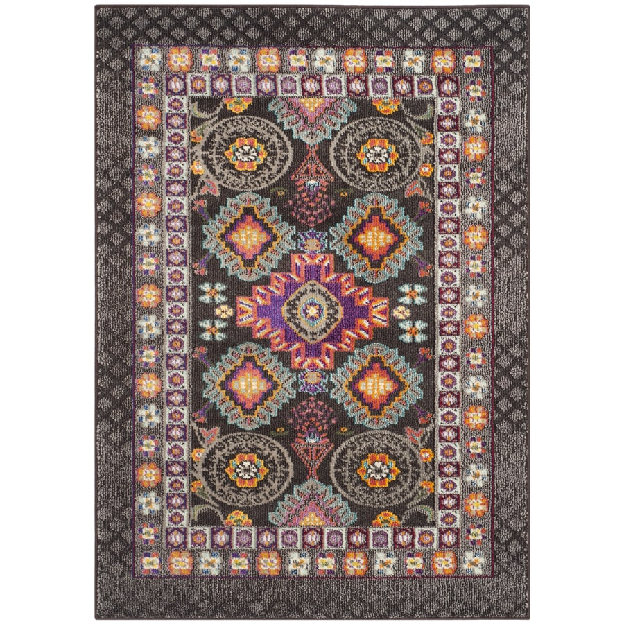 Safavieh Monaco Brown/Multi Rectangular Indoor Machine-Made Distressed Throw Rug (Common: 3 x 5; Actual: 3-ft W x 5-ft L)