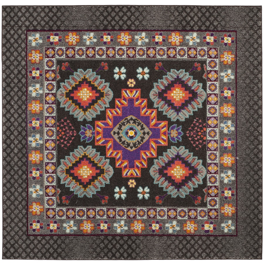 Safavieh Monaco Reyes Brown Square Indoor Nature Area Rug (Common: 7 x 7; Actual: 6.7-ft W x 6.6-ft L)