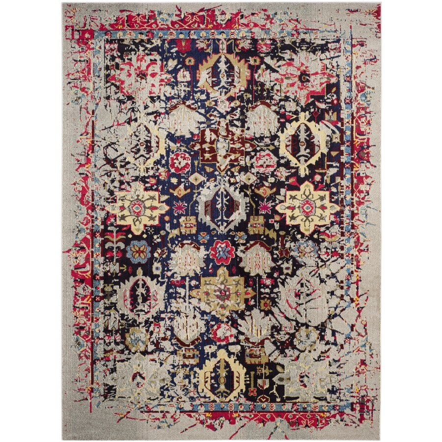 Safavieh Monaco Babette Gray/Multi Rectangular Indoor Machine-made Distressed Area Rug (Common: 10 x 14; Actual: 10-ft W x 14-ft L)
