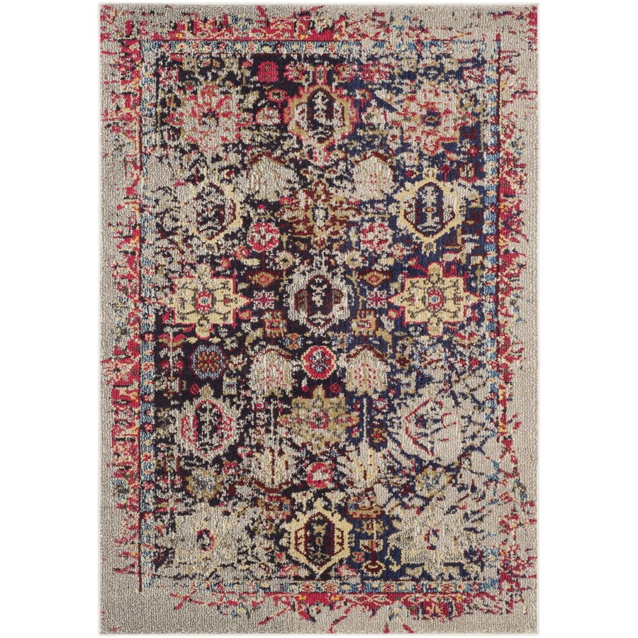 Safavieh Monaco Babette Gray Indoor Distressed Throw Rug (Common: 3 x 5; Actual: 3-ft W x 5-ft L)