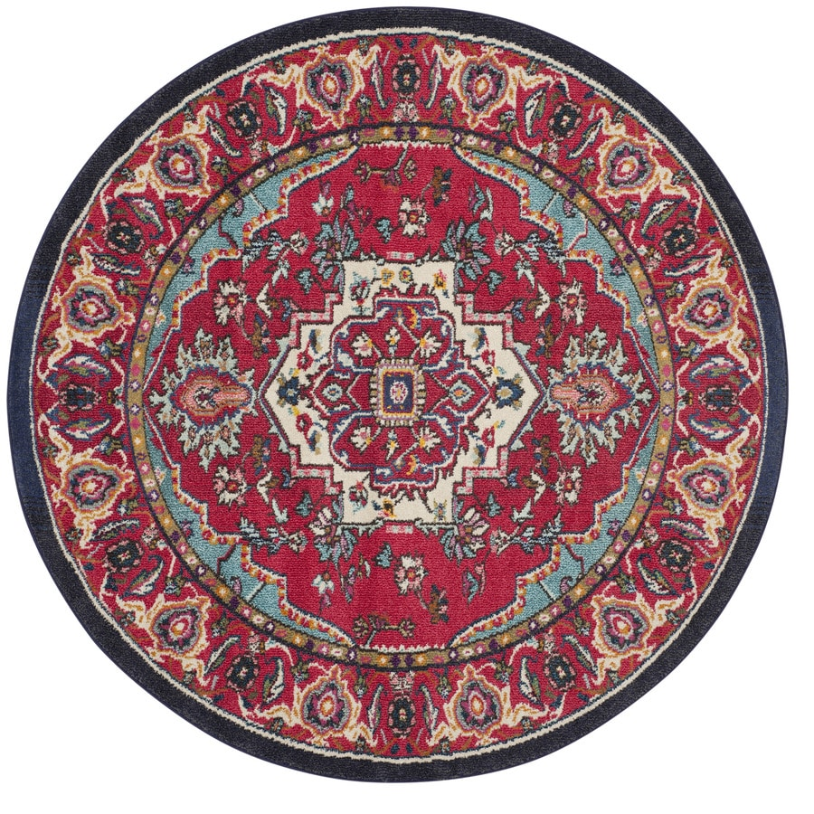 Safavieh Monaco Heritage Red Turquoise Round Indoor Area
