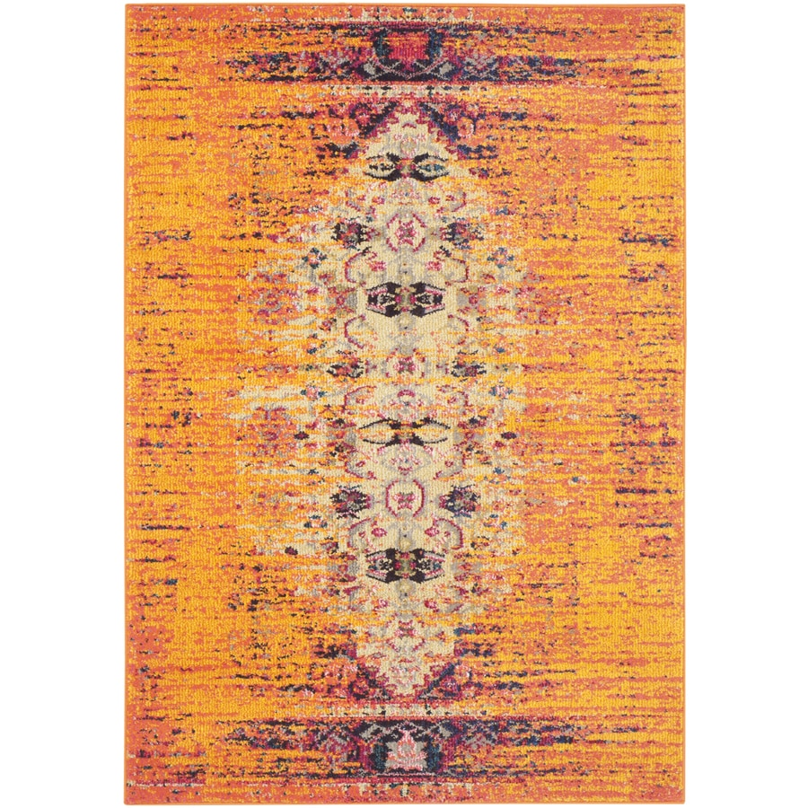 Safavieh Monaco Kimberly Orange/Multi Rectangular Indoor Machine-made Distressed Throw Rug (Common: 3 x 5; Actual: 3-ft W x 5-ft L)