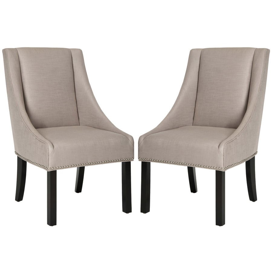 Safavieh Set of 2 Mercer Oyster Side Chairs