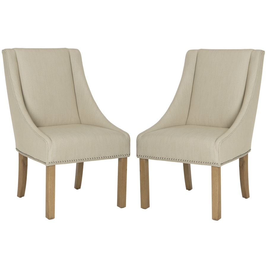 Safavieh Set of 2 Mercer Biege Side Chairs