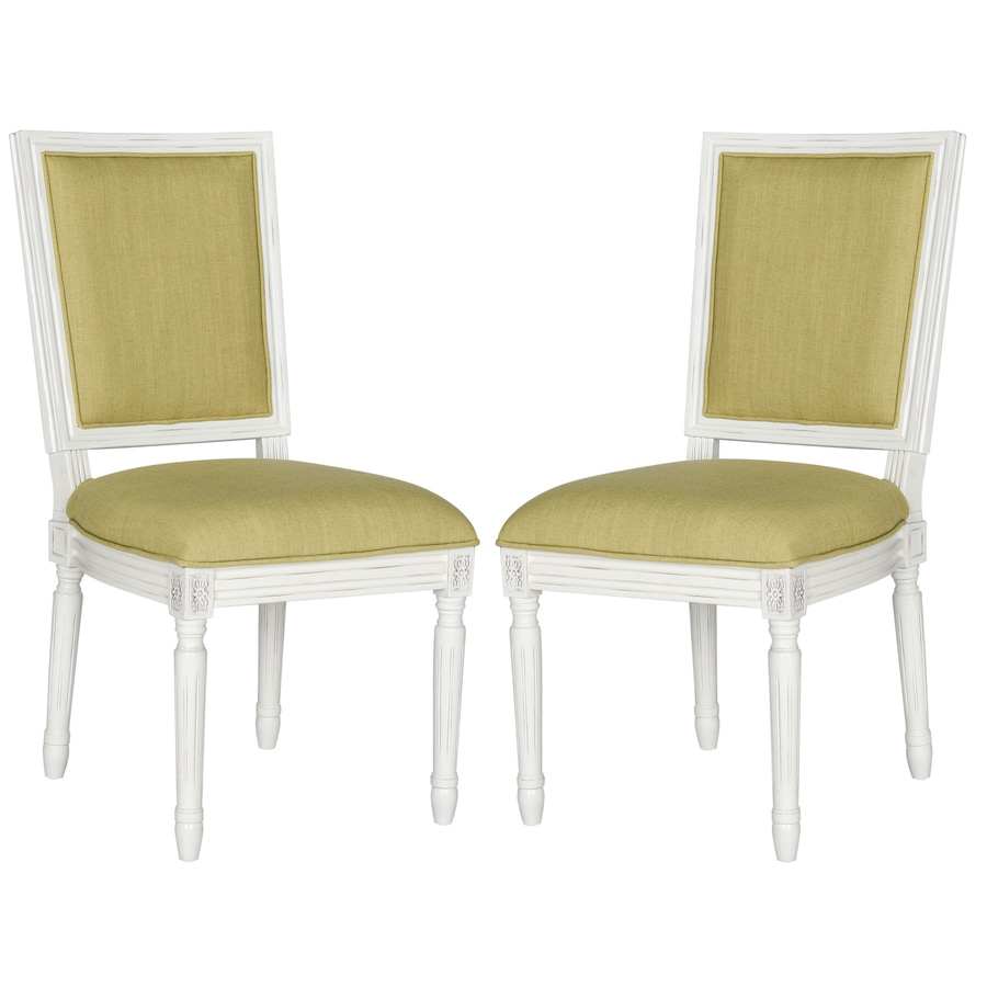 Safavieh Set of 2 Fox Spring Green Side Chairs