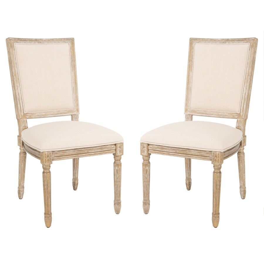 Safavieh Set of 2 Fox Beige Side Chairs