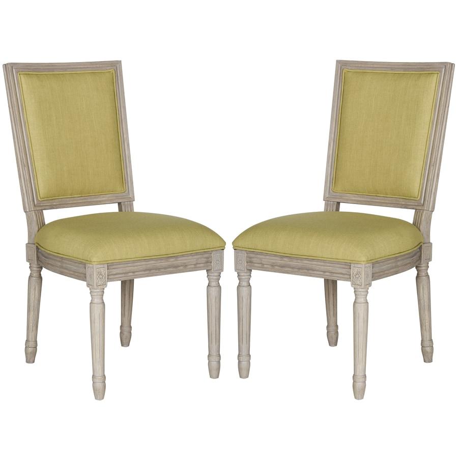 Safavieh Set of 2 Fox Spring Green Side Chairs