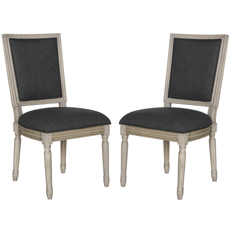 Safavieh Set of 2 Buchanan Charcoal Side Chair