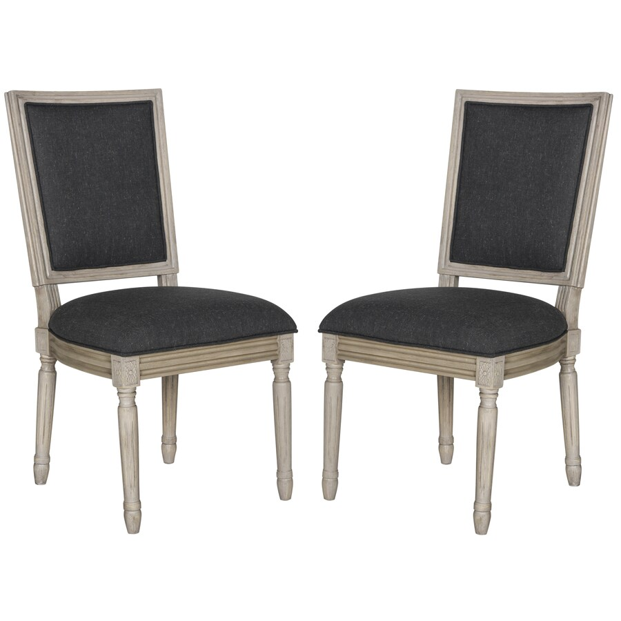 Safavieh Set of 2 Fox Charcoal Side Chairs