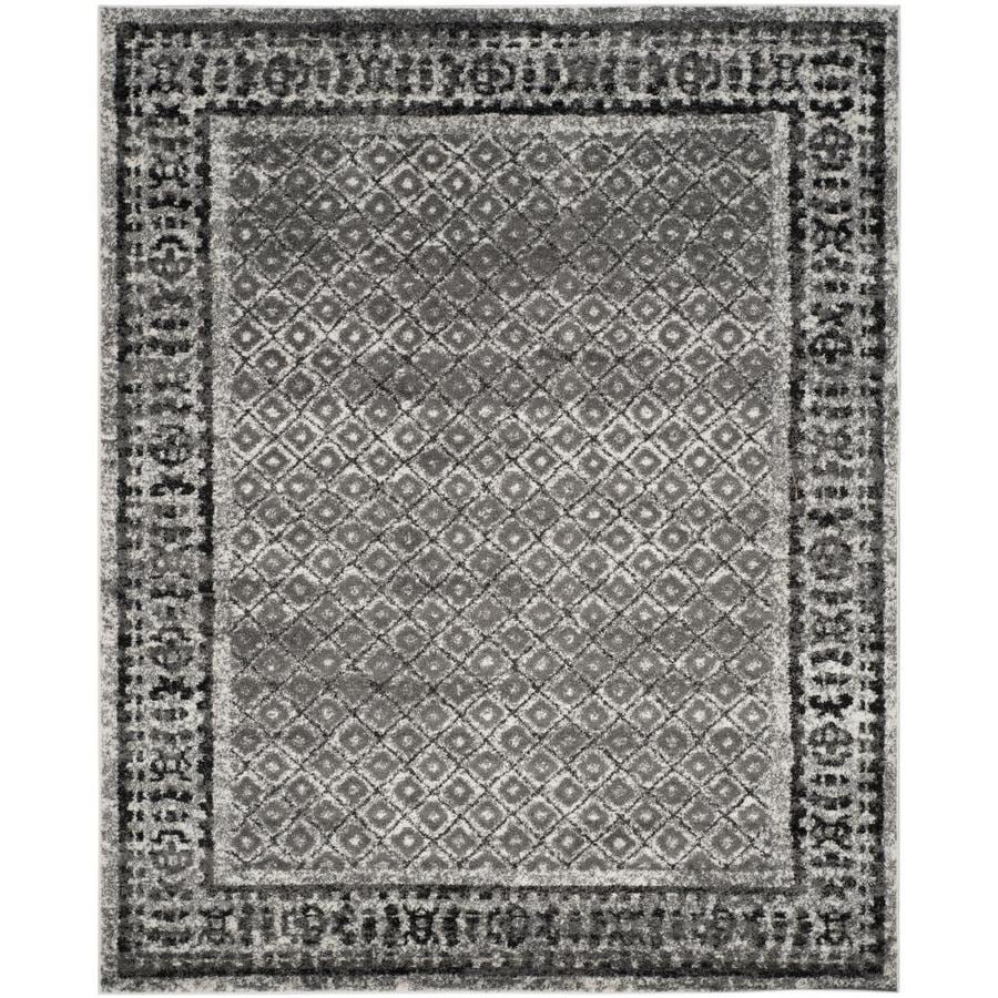Safavieh Adirondack Ivory/Silver Rectangular Indoor Machine-Made Lodge Area Rug (Common: 8 x 10; Actual: 8-ft W x 10-ft L)