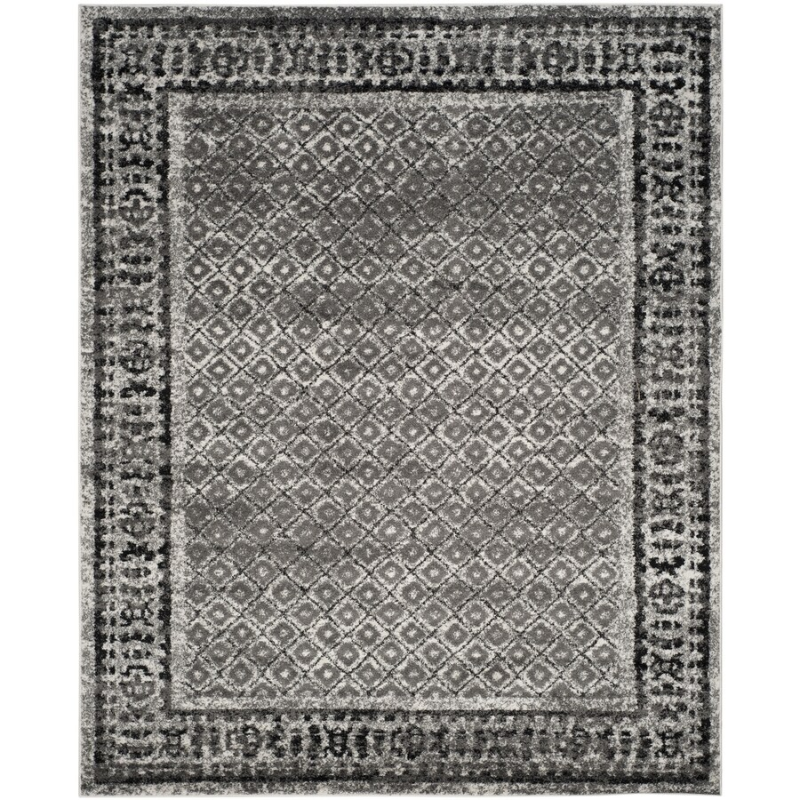 Safavieh Adirondack Tabriz Ivory/Silver Rectangular Indoor Machine-made Lodge Area Rug (Common: 9 x 12; Actual: 9-ft W x 12-ft L)
