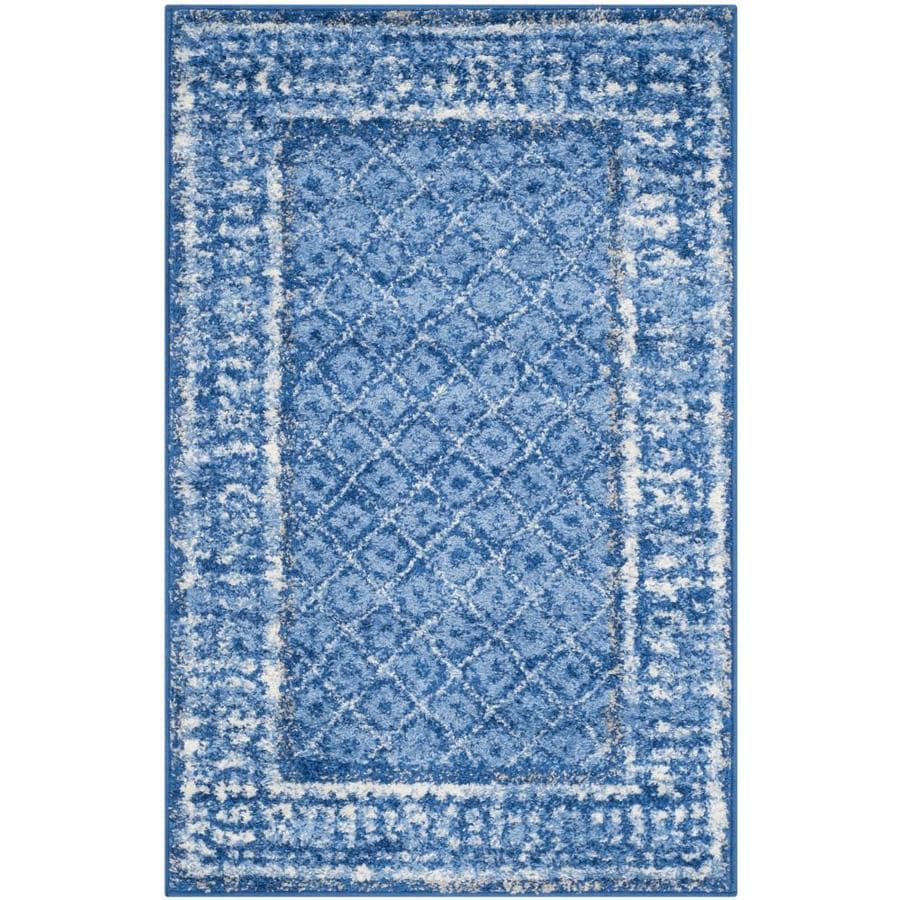 Safavieh Adirondack Tabriz Light Blue/Dark Blue Rectangular Indoor Machine-made Lodge Throw Rug (Common: 2 x 4; Actual: 2.5-ft W x 4-ft L)