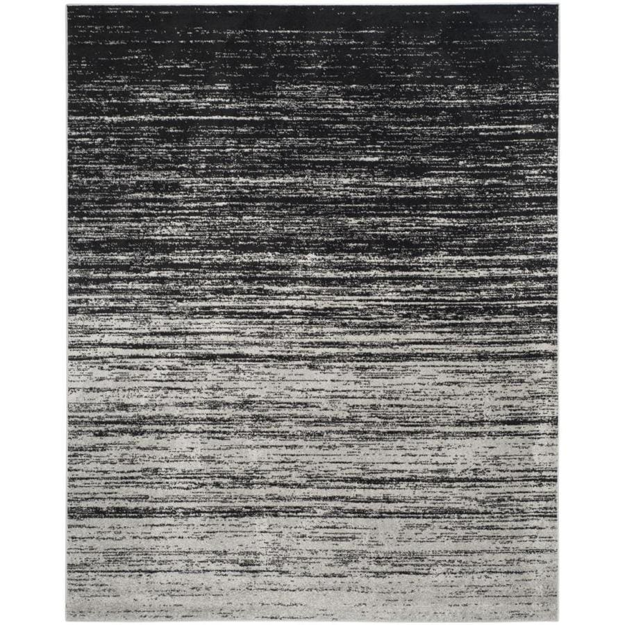 Safavieh Adirondack Silver/Black Rectangular Indoor Machine-Made Lodge Area Rug (Common: 8 x 10; Actual: 8-ft W x 10-ft L)