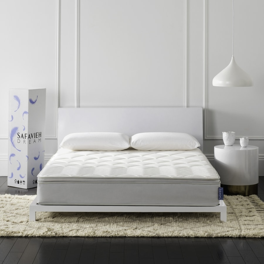 Safavieh Harmony 10-in King Medium Pocketed Coil Spring Mattress