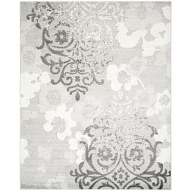 Safavieh Adirondack Serene Silver/Ivory Indoor Lodge Area Rug (Common: 8 x 10; Actual: 8-ft W x 10-ft L)