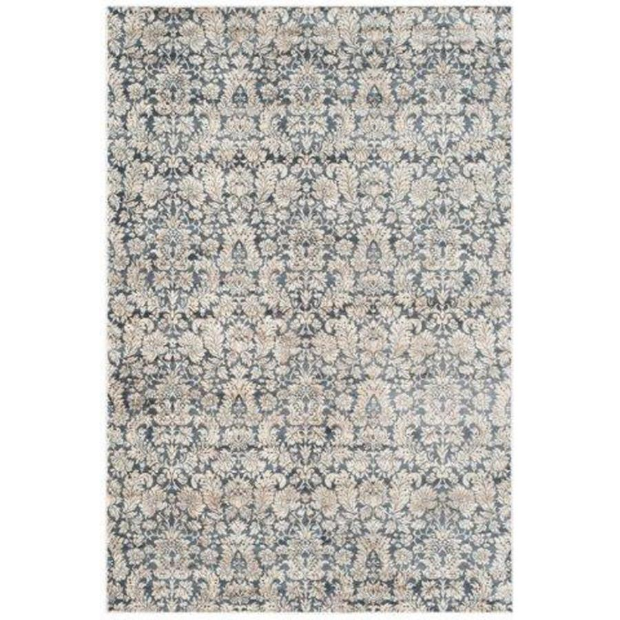 Safavieh Vintage Navy/Creme Rectangular Indoor Machine-Made Distressed Area Rug (Common: 5 x 7; Actual: 5.08-ft W x 7.583-ft L)