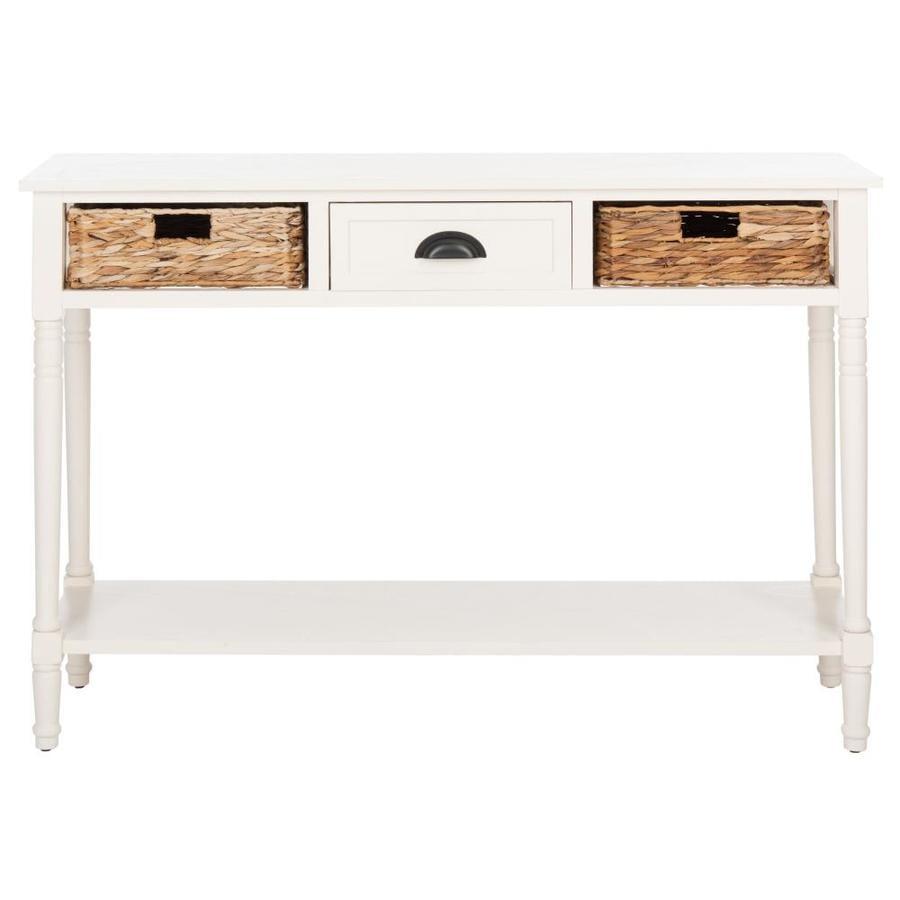 Shop safavieh christa distressedwhite pine console table at lowes safavieh christa distressedwhite pine console table geotapseo Gallery