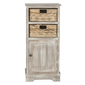 Safavieh 15.9-in x 35-in 2 Vintage White Wood Storage Drawer  sc 1 st  Loweu0027s & Shop Storage Drawers u0026 Carts at Lowes.com