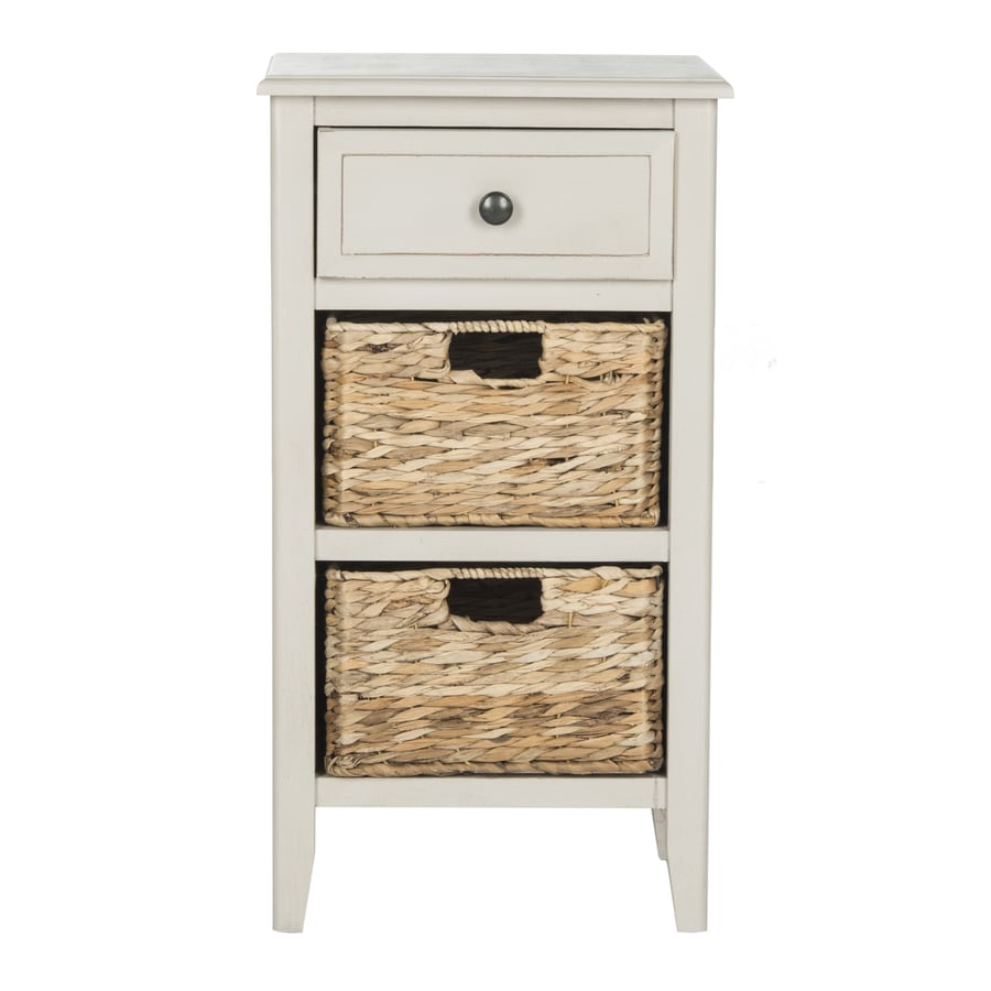 Safavieh Everly Vintage Gray Pine End Table