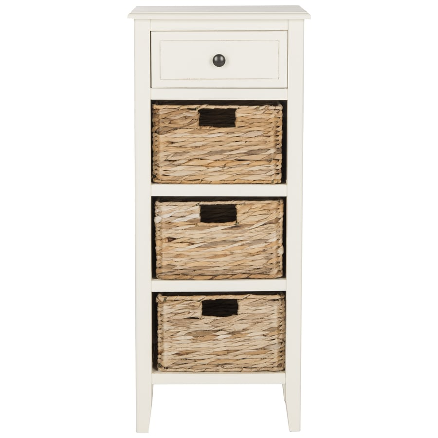 Safavieh Michaela Distressed White Pine End Table