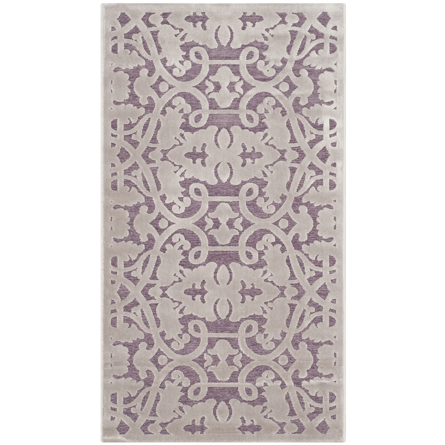 Safavieh Paradise Milo Mauve/Violet Indoor Distressed Throw Rug (Common: 2 x 4; Actual: 2.25-ft W x 4-ft L)