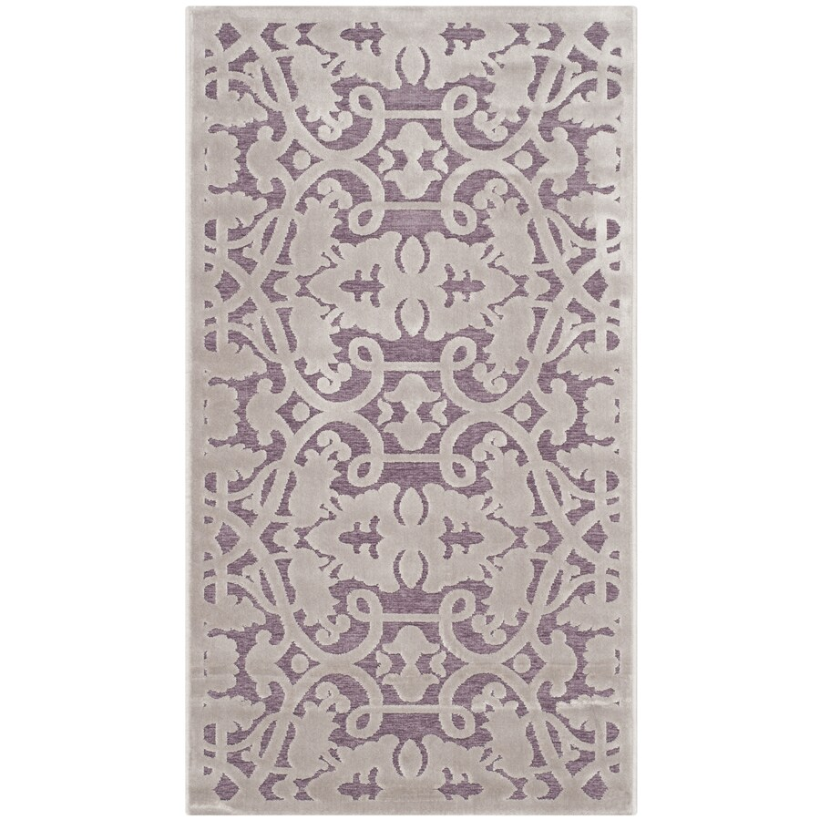 Safavieh Paradise Milo Mauve/Violet Indoor Distressed Area Rug (Common: 4 x 6; Actual: 4-ft W x 6-ft L)