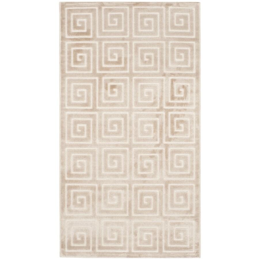 Safavieh Paradise Alston Crme/Crme Indoor Distressed Throw Rug (Common: 2 x 4; Actual: 2.25-ft W x 4-ft L)