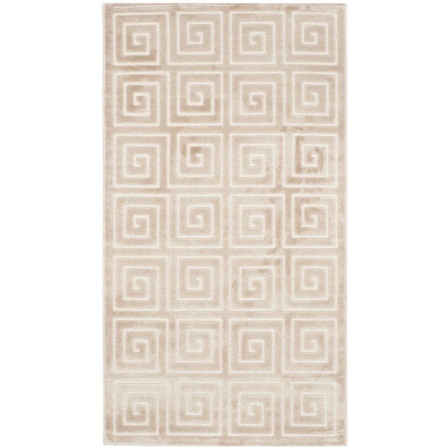 Safavieh Paradise Alston Crme/Crme Rectangular Indoor Machine-made Distressed Throw Rug (Common: 3 x 5; Actual: 3-ft W x 5-ft L)