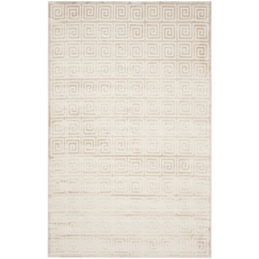Safavieh Paradise Creme and Creme Rectangular Indoor Machine-Made Distressed Area Rug (Common: 5 x 7; Actual: 5.083-ft W x 7.5-ft L)