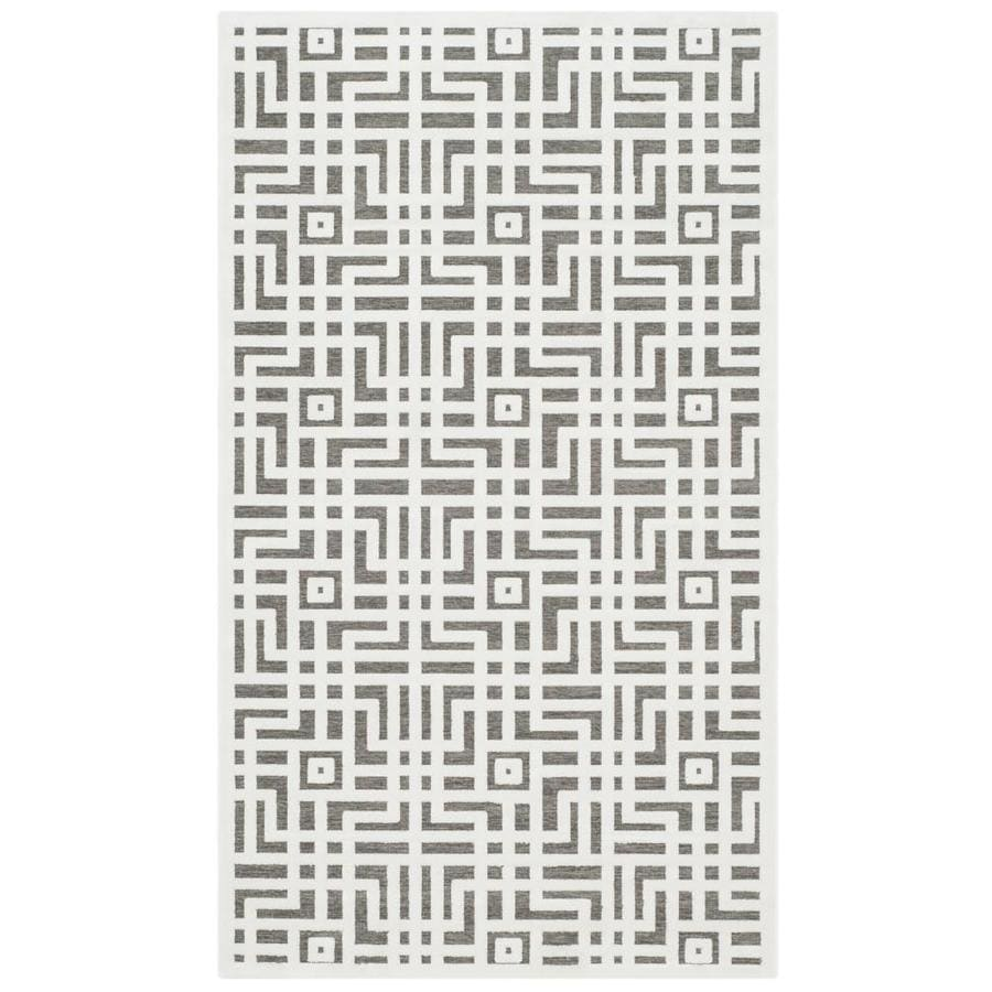 Safavieh Paradise Huxley Ivory/Dark Gray Indoor Distressed Throw Rug (Common: 3 x 5; Actual: 3-ft W x 5-ft L)