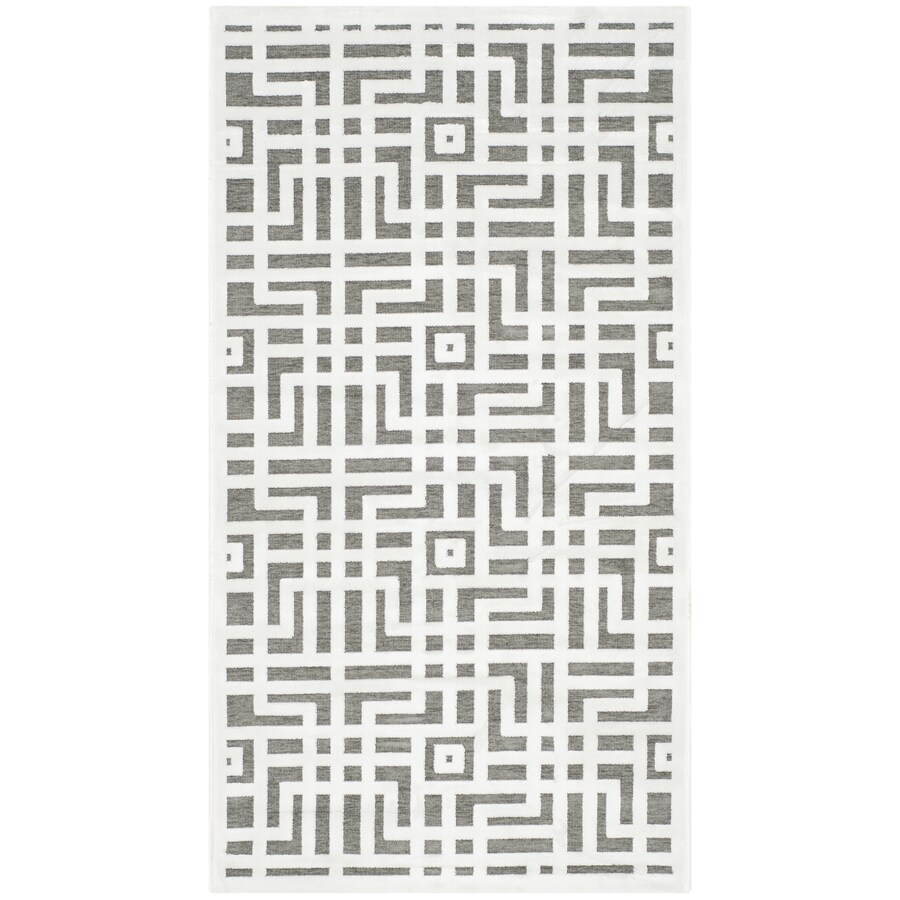 Safavieh Paradise Huxley Ivory/Dark Gray Rectangular Indoor Machine-made Distressed Area Rug (Common: 4 x 6; Actual: 4-ft W x 6-ft L)