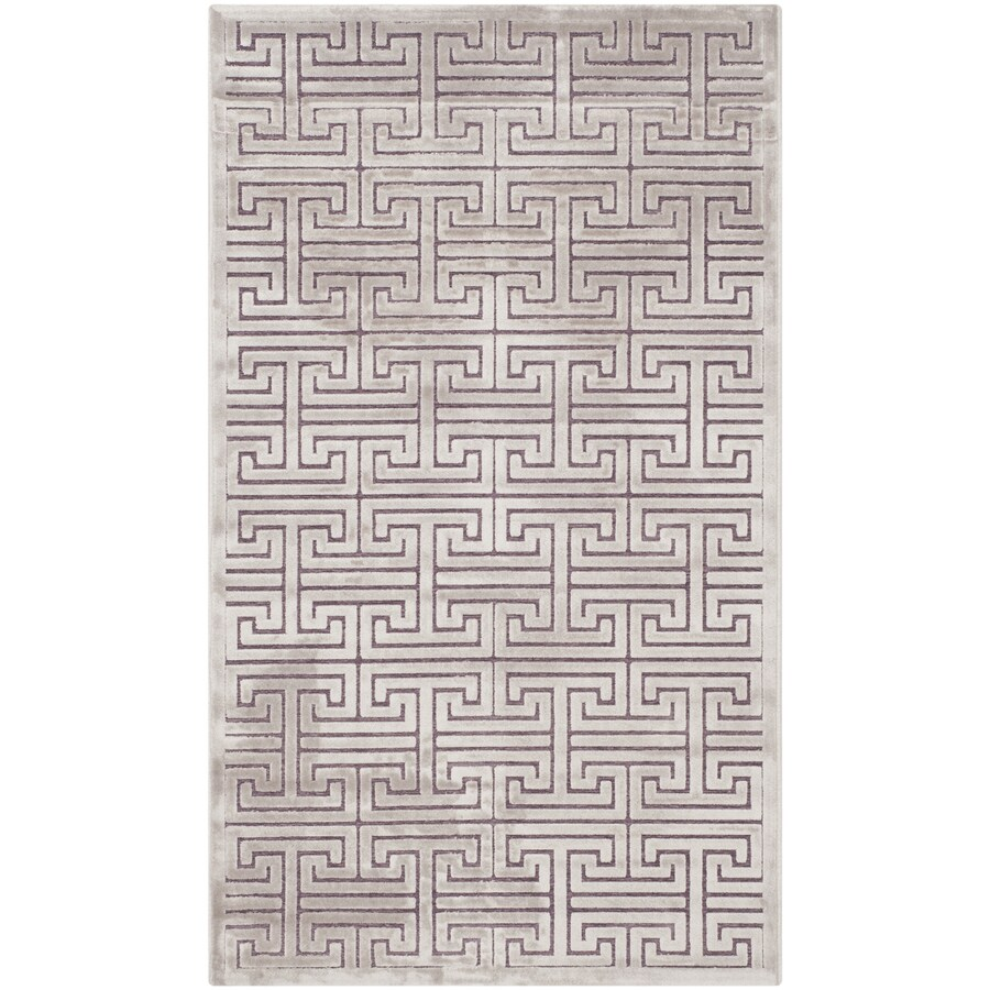 Safavieh Paradise Ainsley Mauve/Violet Indoor Distressed Throw Rug (Common: 3 x 5; Actual: 3-ft W x 5-ft L)