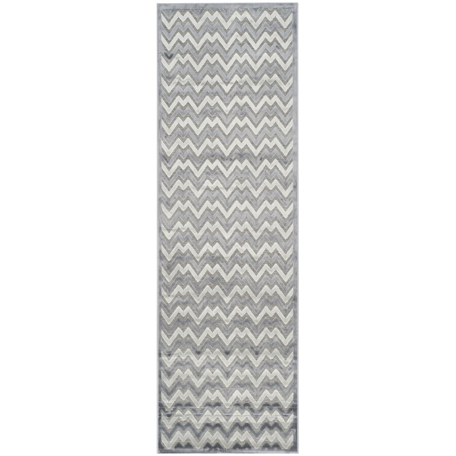 Safavieh Paradise Aika Blue/Gray Rectangular Indoor Machine-made Distressed Runner (Common: 2 x 7; Actual: 2.25-ft W x 7-ft L)